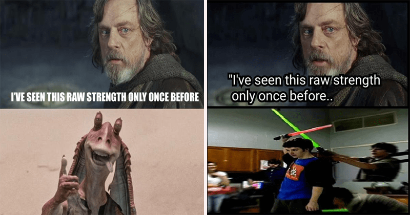 funny star wars meme Luke Skywalker, dank meme, star wars shitpost, the last jedi, mark hamill.