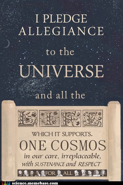 pledge allegiance,universe,science