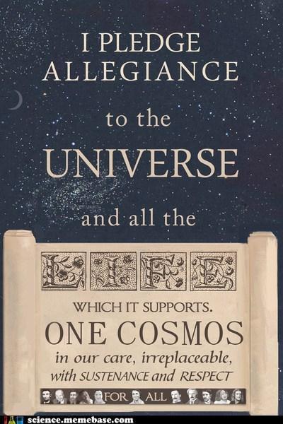 pledge allegiance universe science - 6683250688