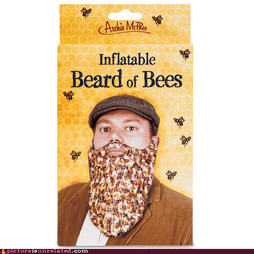beard bees inflatable toy - 6683336192
