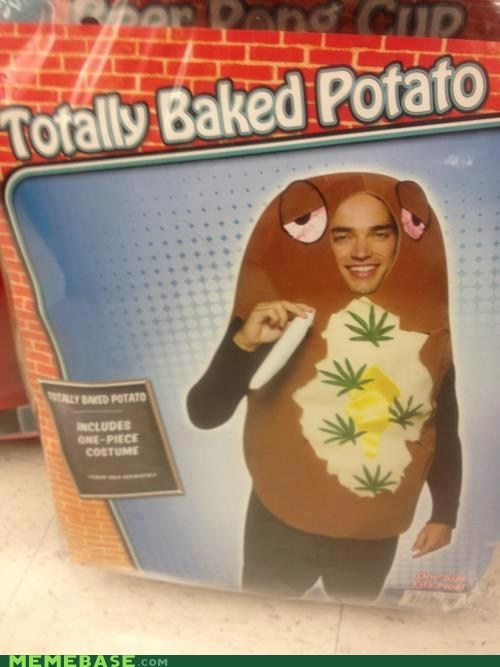 stoner halloween trick or treat high baked potato