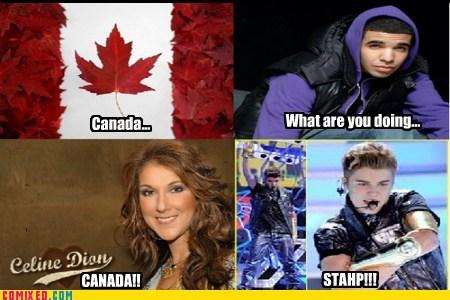 Canada,staph,celine dion,Drake,justin bieber