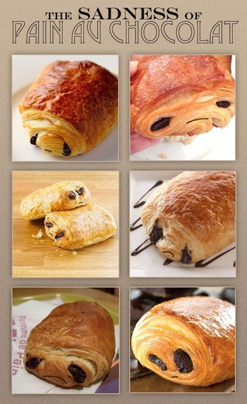 sadness of pain au chocolat,breakfast