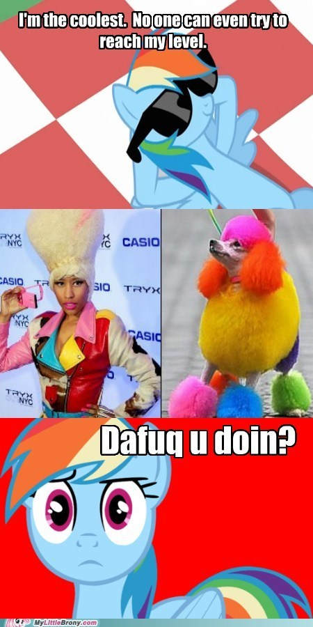 rainbow dash nicki minaj rainbow poodle - 6683755264