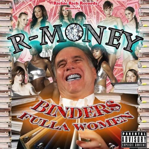 Mitt Romney binders full of women cd cover - 6683847424