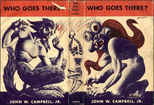 wtf book covers books cover art science fiction who goes there The Thing - 6684015616