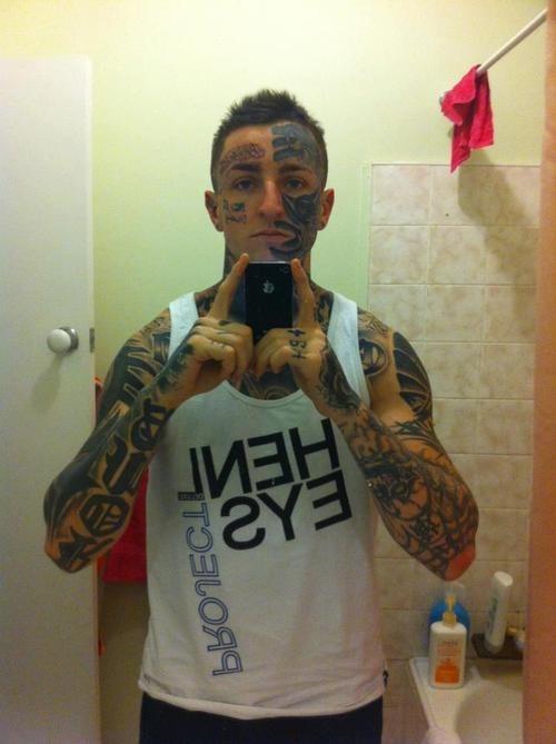 self shots face tattoos - 6684034048