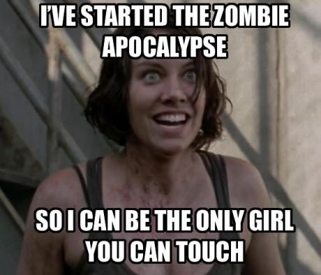 funny,TV,amc,The Walking Dead,meme,overly attached girlfriend