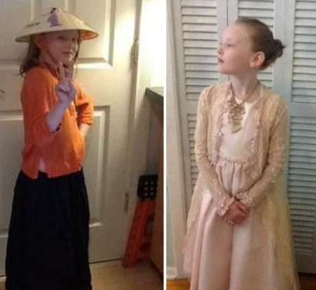 Kickass Kid,second grader,historical costumes