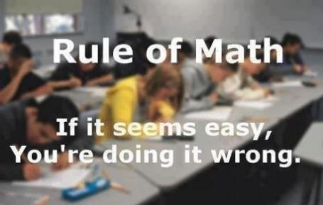 doing something wrong,rules of math,math