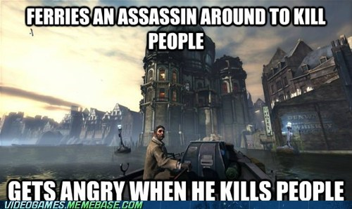 dishonored,samuel,assassin,video game logic