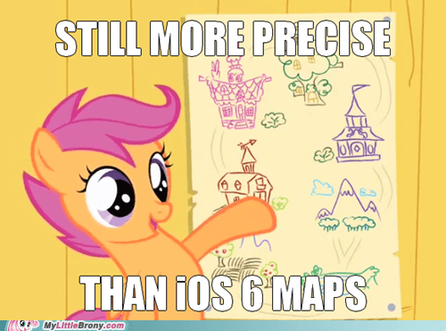 Scootaloo,apple,ios 6,Maps