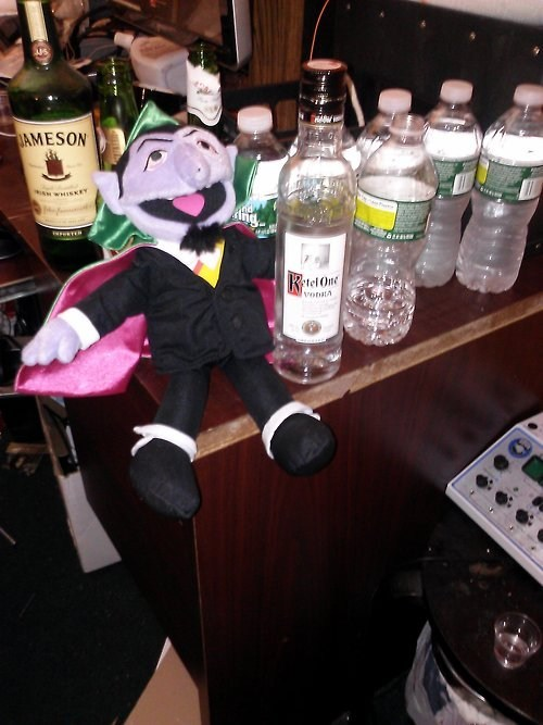The Count,Sesame Street,vodka,shots