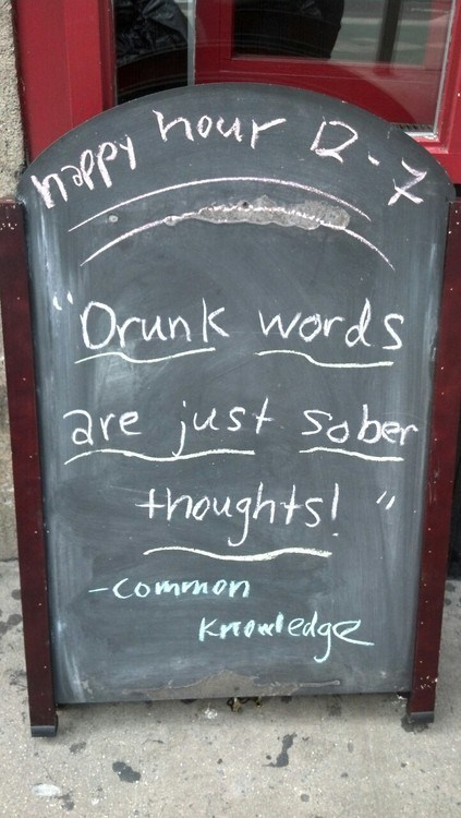 sober self drunk words common knowledge Wasted Wisdom - 6684491776
