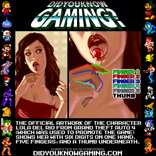 did you know gaming artwork lola del rio grand theft auto 4 - 6684498688