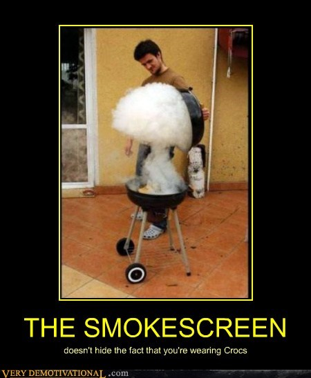 smokescreen,crocs,bbq