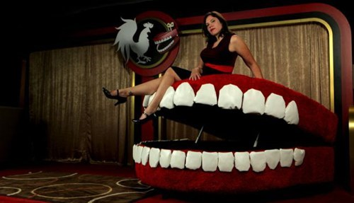 couch teeth mouth hydraulic furniture home decor - 6684688896