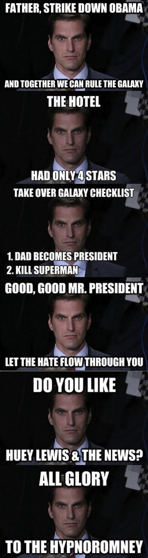 Josh Romney,obama,debate,menacing Josh Romney,meme,american psycho