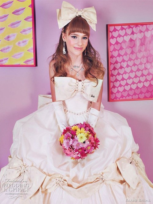 dress bows girly pink present - 6684750848