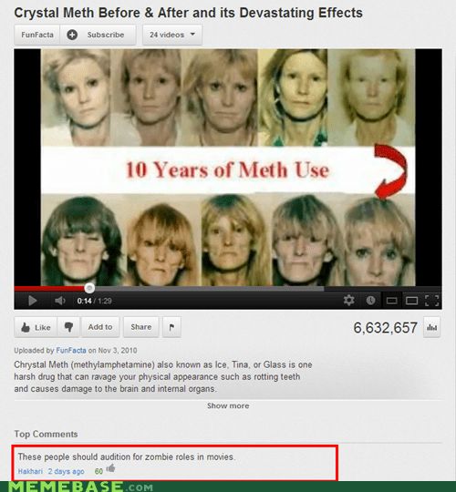 zombie meth comments youtube - 6684775424