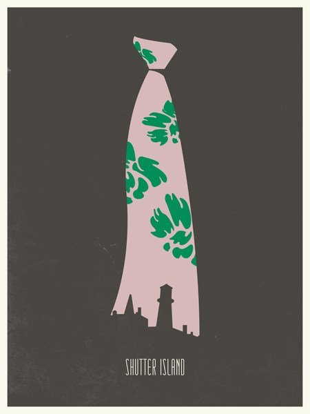 cool art Movie poster shutter island minimalist - 6684835840