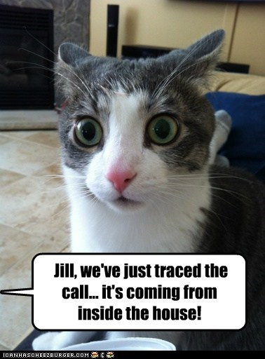 Jill, we've just traced the call... it's coming from inside the house!