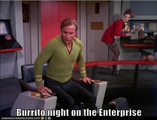 Captain Kirk smell enterprise burritos Star Trek William Shatner Shatnerday fart - 6684906240