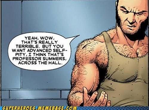 wolverine cyclops self pity