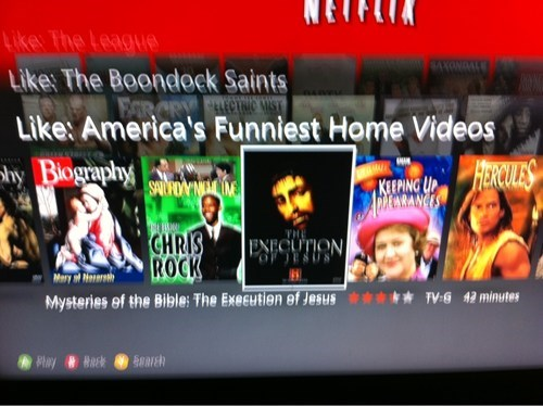 netflix,suggestion,inappropriate,jesus,religion,crucifixion