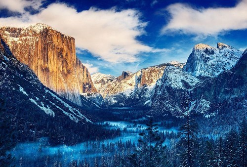 yosemite snow cold landscape mountains camping - 6685411328