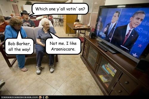 voters Mitt Romney debate confused barack obama watching - 6685598976