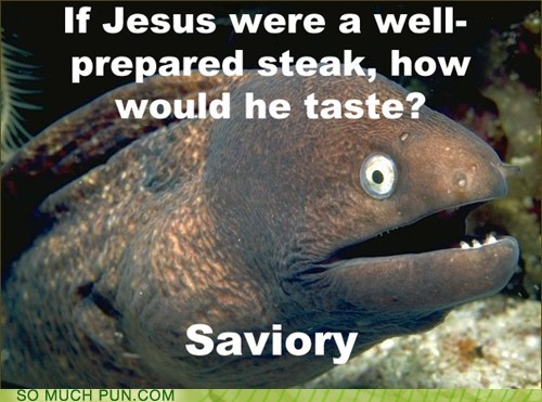 Bad Joke Eel,savory,savior,similar sounding