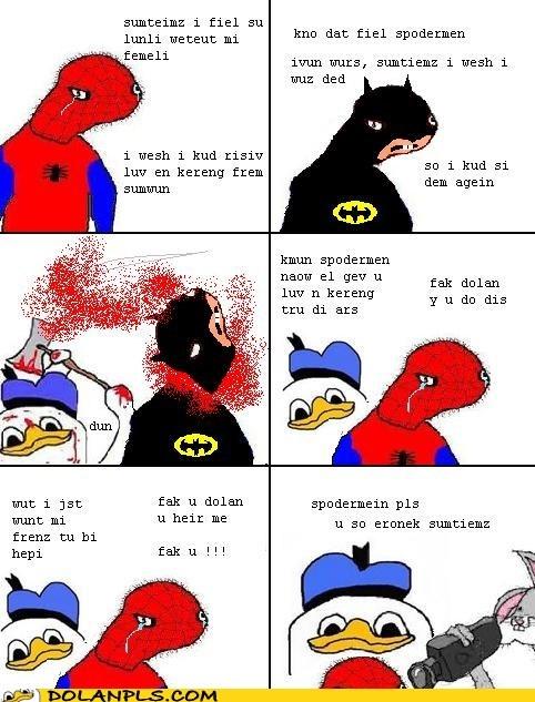 Spider-Man,batman,orphan,spoderman