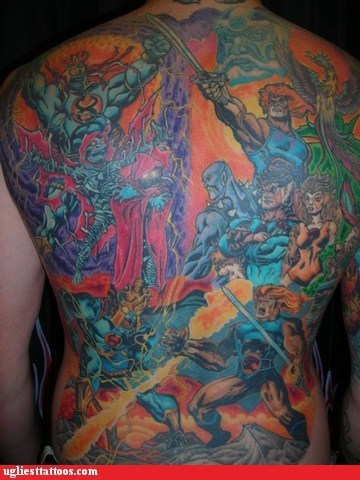 thundercats,back tattoos,win