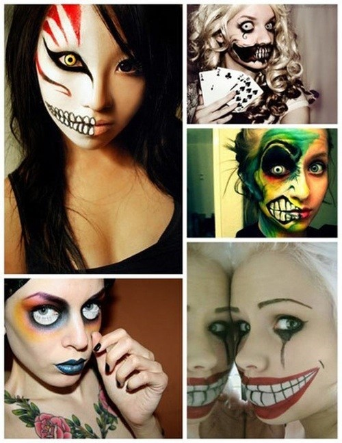 costume makeup,creepy faces