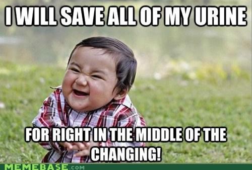 Babies,peestuck,urine,changing,evil