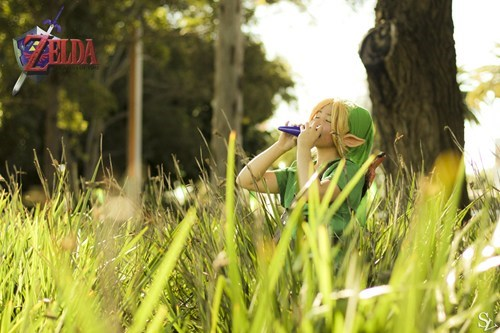 cosplay,link,the legend of zelda,ocarina of time