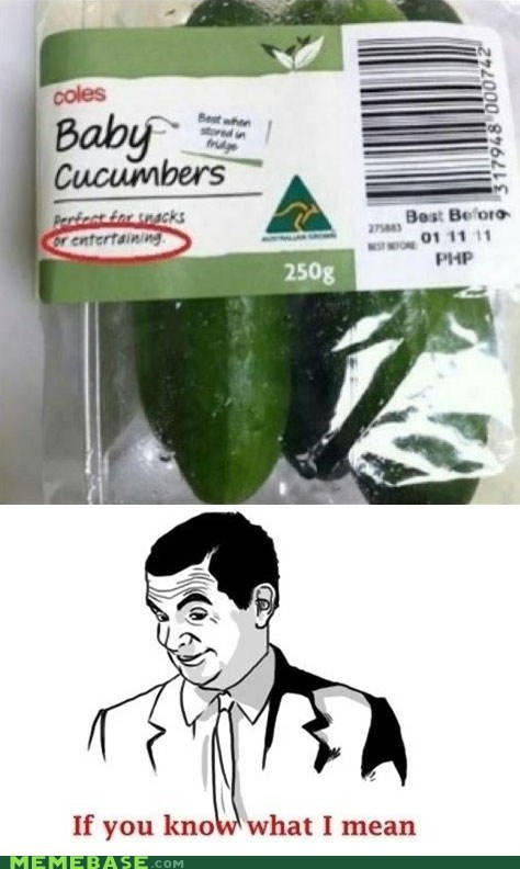 cucumbers entertaining if you know what i mean mr-bean - 6687407872