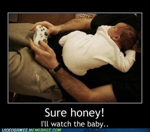 couples,parenting,Babies,video games