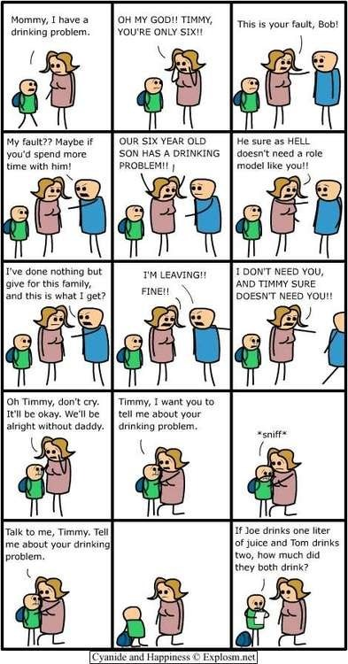 drinking problem,cyanide and happiness,all your fault