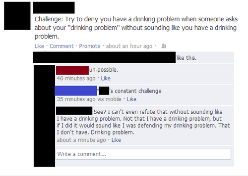 impossible challenge drinking problem alcoholics