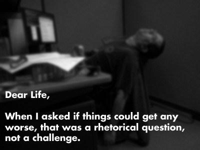 dear life Rhetorical Question - 6687521024