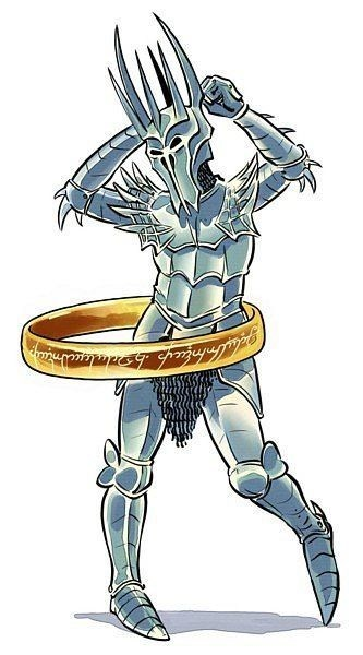 sauron the one ring Lord of the Rings Fan Art hula hoop - 6687691776