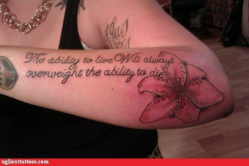 mispelled tattoos arm tattoos expressions flowers - 6687864320