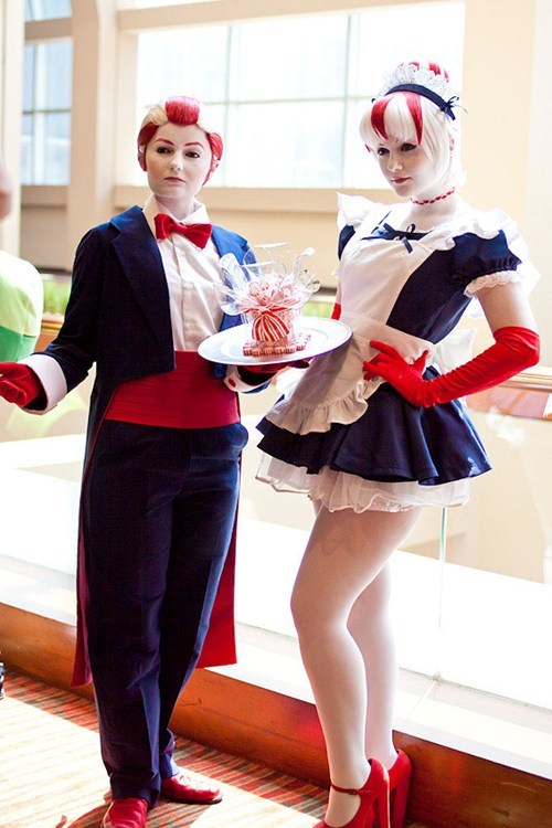 adventure time,peppermint butler,peppermint maid,cosplay,cartoons
