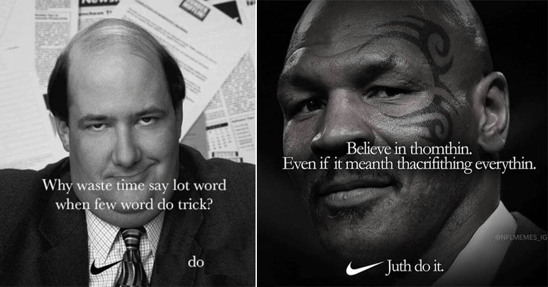 Make a cool nike meme, even if it mean sacrificing dankness
