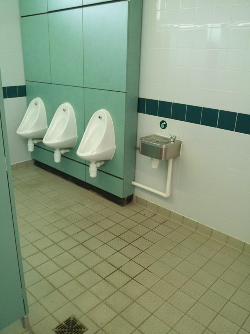 urinal bathroom suspicious gross water fountain - 6688045312