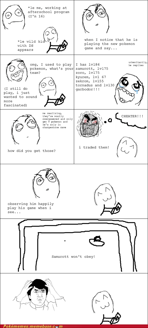 kids oblivious rage comic trading