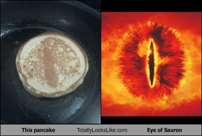 funny TLL food pancake Lord of the Rings Eye of Sauron