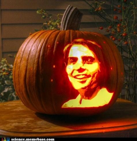 carl sagan,pumpkins,halloween